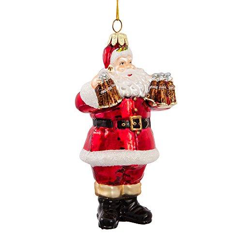 Coca-Cola Kurt Adler Glas Santa Ornament, 12,7cm -