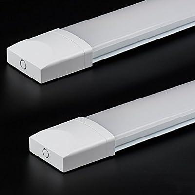 J&C LED Feuchtraumleuchte Ultraslim Dank Schutzart IP65 sowohl für den Innen- als auch Aussenbereich