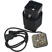 Theoutlettablet® Carcasa a prueba de agua (waterproof) para Bateria recargable 4x18650 Para la luz para bicicleta Lámpara X2 - X3 - T6 - T6 Plus- Trusfire - Ultrafire etc etcc. - MTB bici senderismo noche