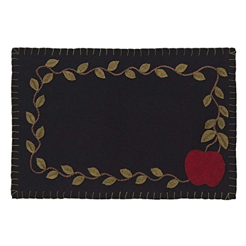VHC Marken Apple Harvest appliziert Filz Tisch-Sets Bordüre Set, rot, 30,5 x 45,7 cm