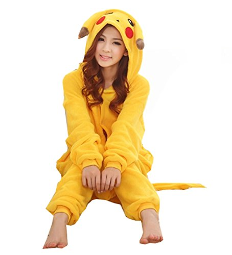 Outdoor Top Winter Warm Flannel Onesie Pajamas Adult Unisex One Piece Pikachu Pajama - 41YgDtt 2BpzL - Outdoor Top Winter Warm Flannel Onesie Pajamas Adult Unisex One Piece Pikachu Pajama