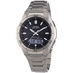 Casio Men's Quartz Watch with Analogue-Digital Display and Silver Bracelet