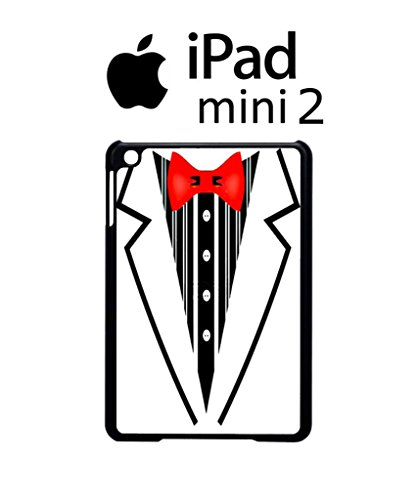 (Tuxedo Suit Bow Tie Fancy Dress Party Cool Funny Hipster Swag Case Back Cover Hülle Weiß Schwarz iPad Mini 2 Tablet White)