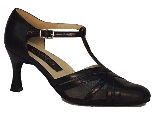 Vitiello Sapatos De Dança Nero Rete Standard, Nero Mulheres Negras Dançando Sapatos