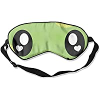 Comfortable Sleep Eyes Masks Cute Green Smile Face Printed Sleeping Mask For Travelling, Night Noon Nap, Mediation... preisvergleich bei billige-tabletten.eu