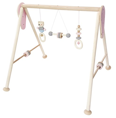 Hess 13382 - Holzspielzeug, Babyspielgerät aus Holz, nature rosa
