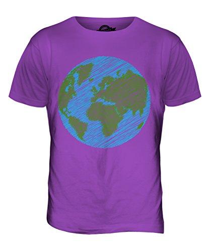 CandyMix Kritzelte Erde Herren T Shirt Violett