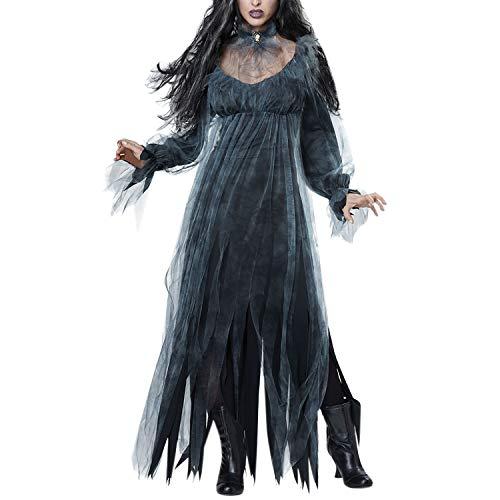 stüm Damen Zombie Braut Kleid Vampir Gruseliger Effekt Kleid Cosplay ()
