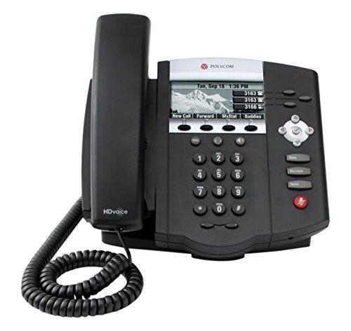 Polycom 2200-12450-122 Desktop Telefon VoIP SoundPoint IP450 schwarz