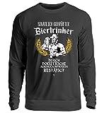 Lustig von Polizei staatlich geprüfter Biertrinker Bier Bierkrug T-Shirt Alkohol Geschenk - Unisex Pullover -XL-Jet Schwarz