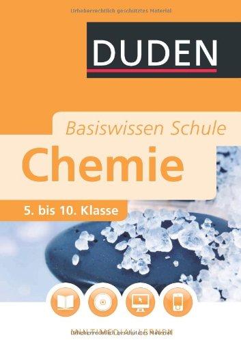 Duden Basiswissen Schule Chemie 5 Bis 10 Klasse Pdf