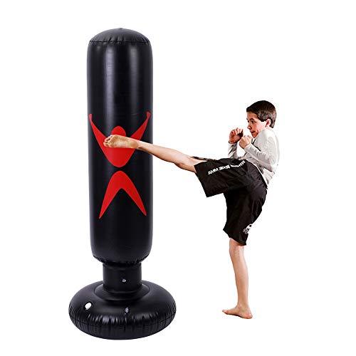 Forart Aufblasbarer Boxsack für Erwachsene Kinder - Freistehender Bounce Back Boxsack Fitness Training Target Stand Übungsspielzeug -