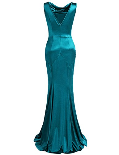 MUXXN Damen Retro 1950er Lange Maxi Cocktailkleid Party Kleid Light Blue