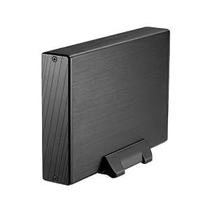 """TooQ TQE-3527B - Carcasa para Discos Duros HDD de 3.5"""", (SATA I/II/III, USB 3.0), Aluminio, indicador LED, Color Negro, 350 grs."""