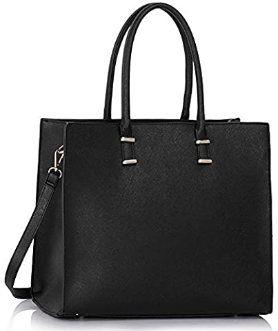Ladies X Large Fashion Designer Celebrity Tote Bags Women's Quality Hot Selling Trendy Handbags CWS00319B CWS00319C CWS00319 (CWS00319 Black)