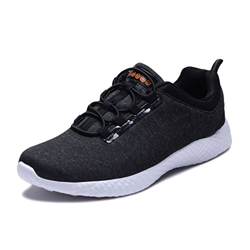 COODO CD8008 Women's Lightweight Fashion Sneakers Casual Sport Shoes BLACK-UK5.5/EU37