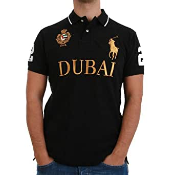 Poloshirt Lauren Men Pony Black Ralph Big Polo Dubai GrößeL 435jqLAR