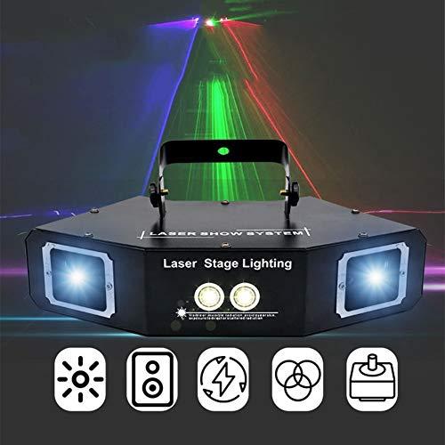 LED-Derby-Effekt-Projektionsleuchten LED-Disco-Leuchten Sound-aktivierte Bühnenbeleuchtung 60W RGBW 4-Kanal DMX 512 für Indoor-Home-Partys -615