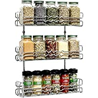 Callas Wall Mounted Kitchen Spice Rack/Storage Rack, 3-Tier Chrome, 38X15X54 cm, CA67