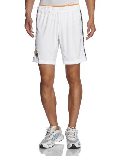 adidas, Pantaloni corti Uomo Real Madrid Home Pantaloncini, Bianco (White/lead/light Orange), XL