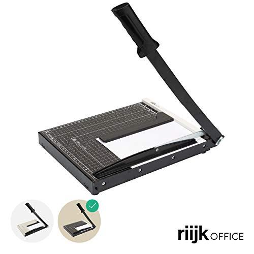 riijk Coupe-papier A4 - Coupe-papier professionnel à levier pour coupe-papier, machine à couper le papier avec lignes de format