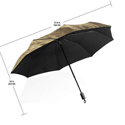 XiangHeFu Regenschirm, Textur Einer Alten Wand, automatisches Öffnen, 3 Falten, leicht, UV-Schutz
