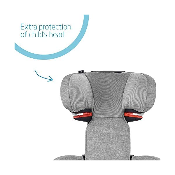 Maxi-Cosi RodiFix AirProtect Child Isofix Extra Protection Booster Car Seat, Nomad Grey, 15 - 36 kg, 3.5 - 12 Years Maxi-Cosi Booster car seat for children from 15-36 kg (3.5 to 12 years) Grows along with your child thanks to the easy headrest and backrest adjustment from the top Patented AirProtect technology for extra protection of child's head 3