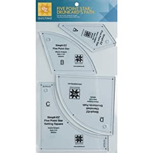 EZ Quilting Five Point Star/ Drunkard's Path Acrylic Template