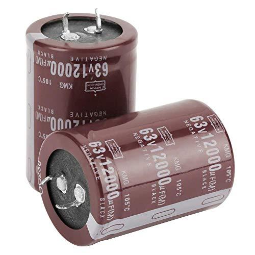 2 Stücke Audio 63 V 12000UF Filter HIFI Elektrolytkondensator 35 * 50mm Zum Blockieren, Kuppeln, Bypass, Filtern, Abstimmkreis, Energieumwandlung, Steuerkreis Audio-kuppel