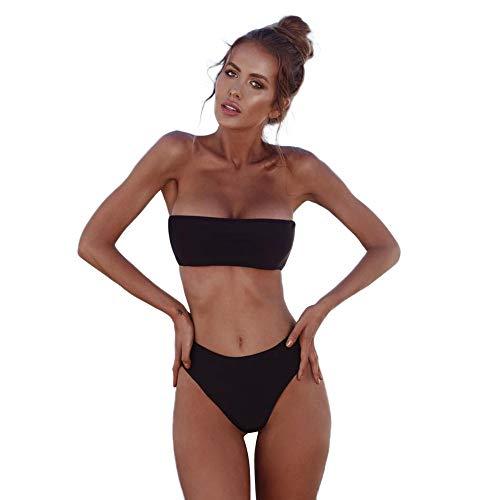 JUTOO Zug Damen high Waisted Bikini Badeanzug mit Bein Badeanzug Damen bauchweg Bikinis online Bikini Damen Badeanzug Sport Exklusive bademode bademode Damen Sale badeanzüge Frauen