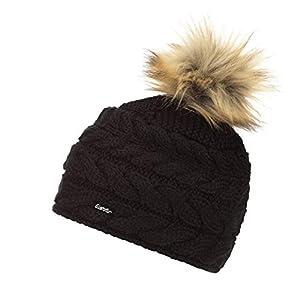 Eisbär Damen Beyza Lux Mütze, schwarz-Braun, One Size