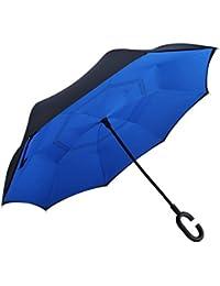 RGTOPONE Tela De Doble Capa Paraguas Invertido Secado Rápido Manos Libres Paraguas Protección Uv a Prueba