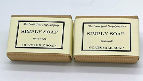 2 x Simply Goats Milk Soap. Unscented 100g. Sensitive Skin. Eczema, Psoriasis, Dermatitis. Dry Skin