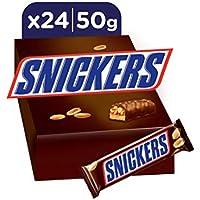 Snickers Barretta con Caramello e Arachidi Tostate Ricoperta al Cioccolato, 24 barrette x50g (1200g)