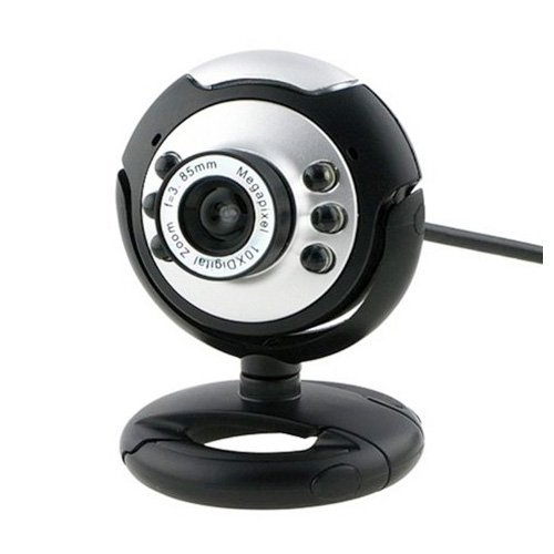 TOOGOO(R) USB 6 LED PC WebCam Kamera + Nacht Vision MSN, ICQ, AIM, Skype, Net Meeting und kompatibel mit Win 98/2000 / NT / Me / XP / Vista