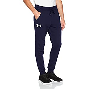 Under Armour Rival Fitted Tapered, Pantalone Uomo, Blu Navy Notte, L