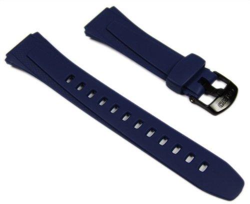 Casio Uhr der 10179407-Kunstharz Armband für Männer, dunkelblau (24) -