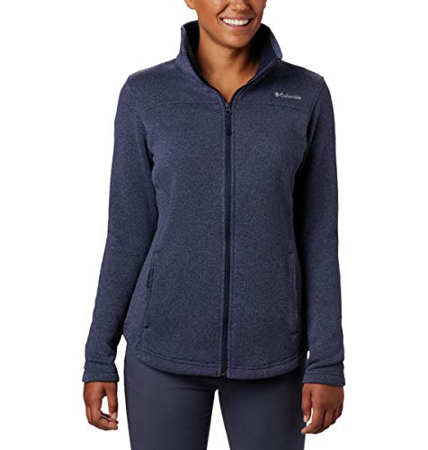Columbia Damen Canyon Point Sweater Fleece Full Zip Fleecejacke, Dark Nocturnal, Klein Columbia Full Zip Sweater