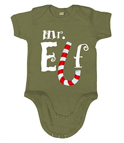 Kostüm Baby Grinch (Artdiktat Baby Organic Bodysuit - Strampler - Mr. Elf Größe 60/66,)