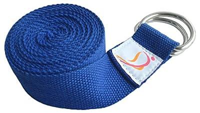 Dancina Yoga Gurt 2,5m mit Metall D-Ring aus 100% Baumwolle