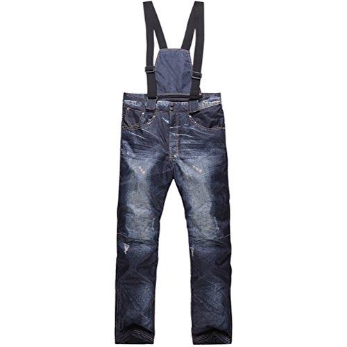 Zongsi pantaloni da sci da uomo casual bretelle jeans da sci impermeabile e traspirante warm skiing pantaloni da snowboard