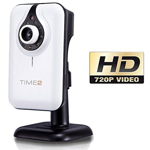 Wlan IP Kamera überwachung - HD 720P, videoüberwachung, netzwerkkamera mit nachtsicht, Bewegungsmelder, 2-way audio, Warnungen. Sicherheit Kamera für Baby/ Alter/ Haustier. Android, iOS, 64GB Speicher