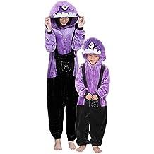 Despicable Me violette Onesie Cache-Couche - Adulte Unisexe Minion Sbires Grenouillères Pyjamas ou Déguisement - Cosplay de Halloween Costume Vêtements (Adulte M)