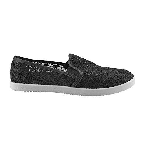 20023 Fashion4young Scarpe Da Donna Pantofola Pantofole Da Donna Scarpe Estive In Tessuto Nero