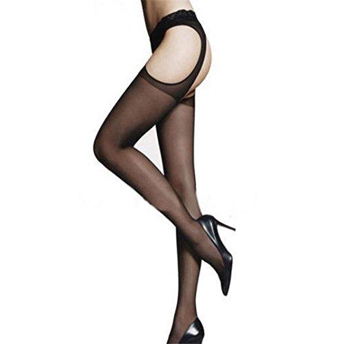 LuckyGirls Damen Mode sexy schwarz neue Jacquard Piercing seidig lebendige strümpfe Strumpfhose (Nicht Strumpfhosen Laufen)