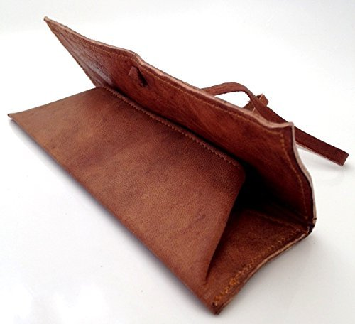 new-hand-made-real-leather-pencil-pen-case-artist-make-up-pouch-vintage-cosmetic-art-office-tobacco