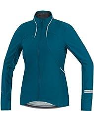 Gore Running Wear Air Windstopper Soft Shell - Camiseta manga larga para mujer, color azul, talla M