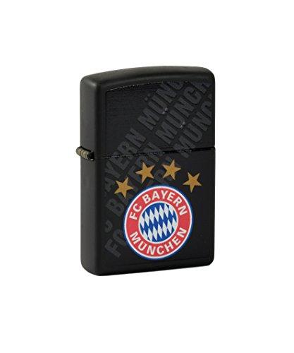 Zippo Feuerzeug FC Bayern München black matte