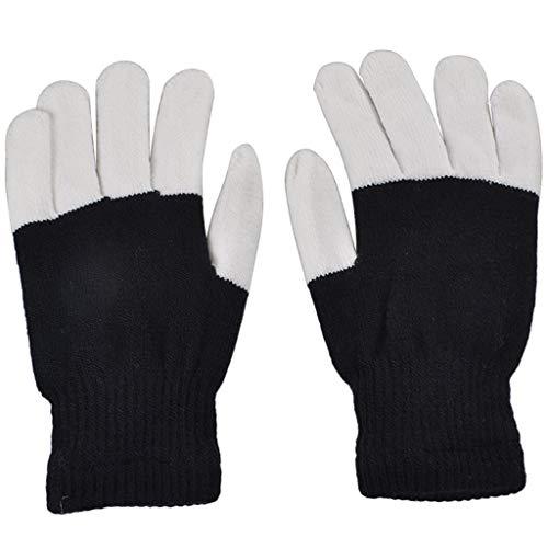 andschuhe Warme Handschuhe für Lightshow Dance Halloween Schwarz ()