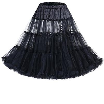 """IVNIS Women's 50s Vintage Rockabilly Petticoat 26"""" Length Net Underskirt"""
